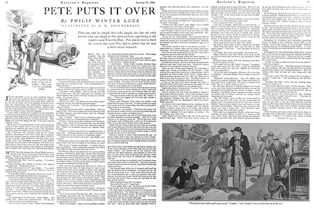 Article Preview: PETE PUTS IT OVER, January 1926 | Maclean's