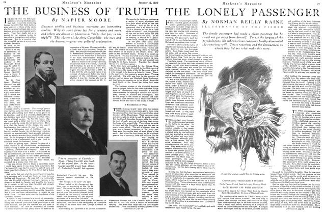 Article Preview: THE LONELY PASSENGER, January 1926 | Maclean's