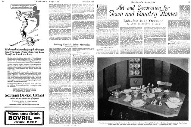 Article Preview: Breakfast as an Occasion, January 1926 | Maclean's