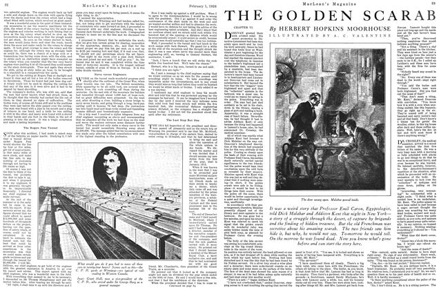 Article Preview: THE GOLDEN SCARAB, February 1926 | Maclean's