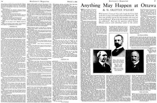 Article Preview: Anything May Happen at Ottawa, February 1926 | Maclean's