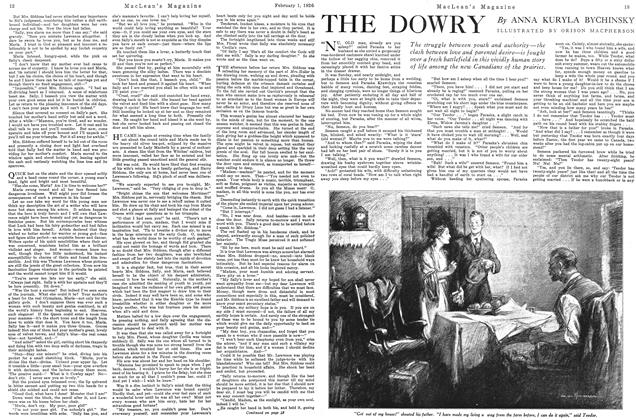 Article Preview: THE DOWRY, February 1926 | Maclean's