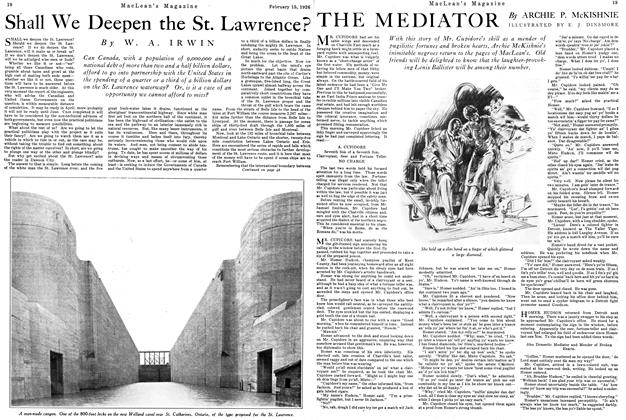 Article Preview: Shall We Deepen the St. Lawrence?, February 1926 | Maclean's