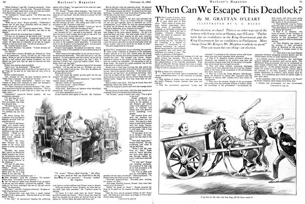 Article Preview: When Can We Escape This Deadlock?, February 1926 | Maclean's