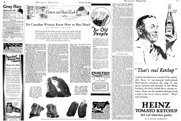 Article Preview: Do Canadian Women Know How to Buy Meat?, February 1926 | Maclean's