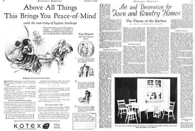 Article Preview: Art and Decoration for Town and Country Homes, February 1926 | Maclean's