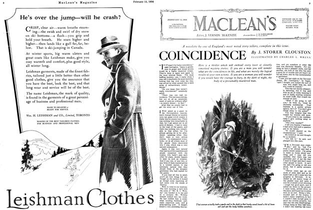 Article Preview: COINCIDENCE, February 1926 | Maclean's