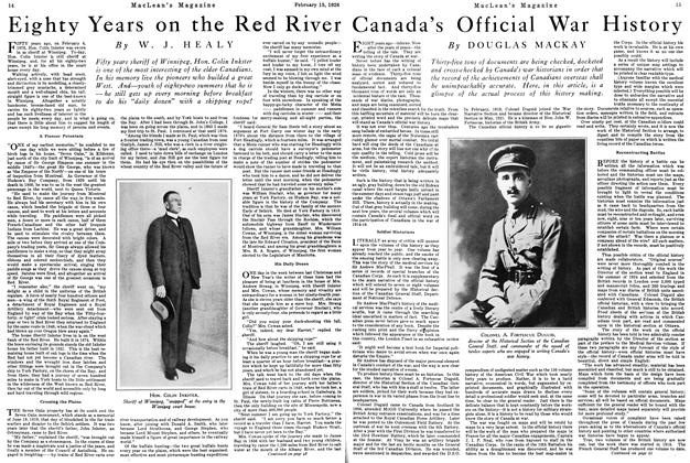 Article Preview: Canada's Official War History, February 1926 | Maclean's