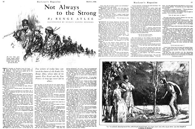 Article Preview: Not Always to the Strong, March 1926 | Maclean's