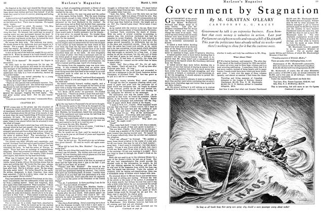 Article Preview: Government by Stagnation, March 1926 | Maclean's