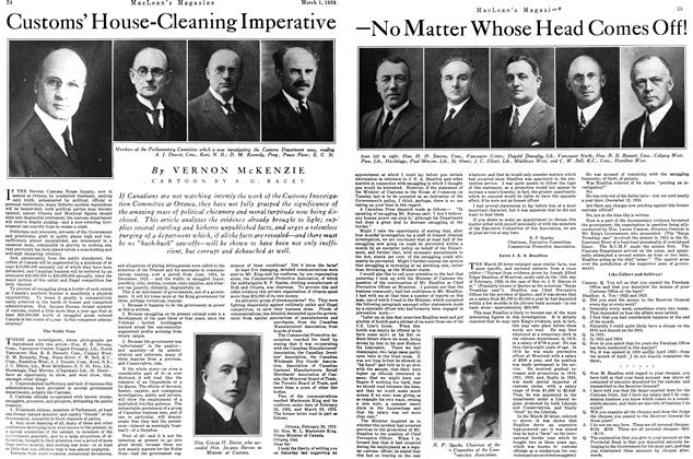 Article Preview: Customs' House-Cleaning Imperative —No Matter Whose Head Comes Off!, March 1926 | Maclean's