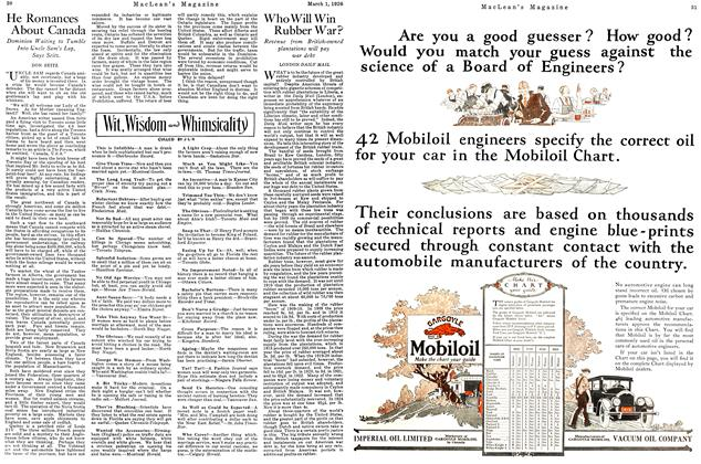 Article Preview: Who Will Win Rubber War?, March 1926 | Maclean's