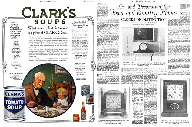 Article Preview: CLOCKS OF DISTINCTION, March 1926 | Maclean's