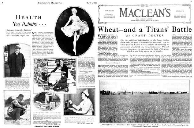 Article Preview: Wheat—and a Titans' Battle, March 1926 | Maclean's