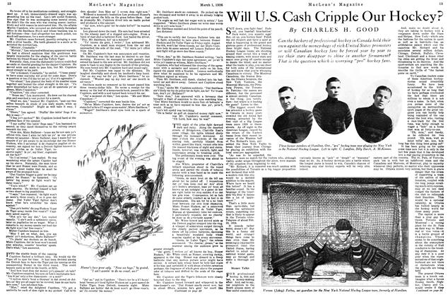 Article Preview: Will U.S. Cash Cripple Our Hockey?, March 1926 | Maclean's
