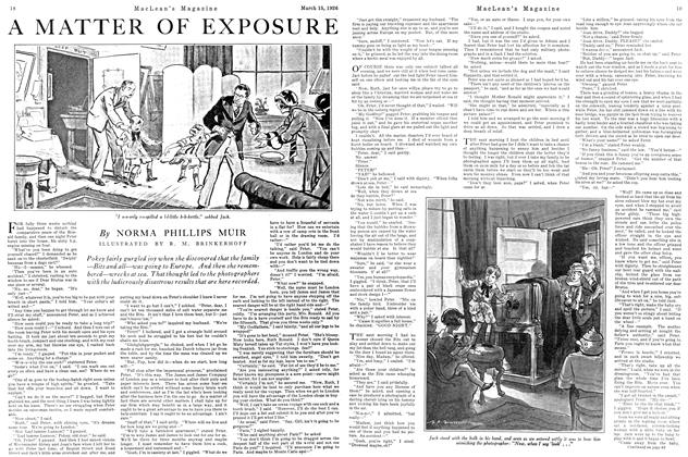 Article Preview: A MATTER OF EXPOSURE, March 1926 | Maclean's