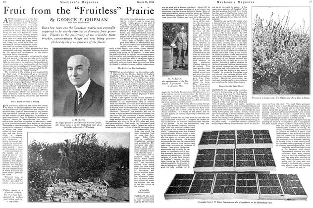 "Article Preview: Fruit from the ""Fruitless"" Prairie, March 1926 
