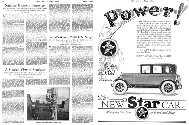 Article Preview: A Shavian View of Marriage, March 1926 | Maclean's
