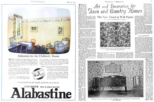 Article Preview: The New Trend in Wall Papers, March 1926 | Maclean's
