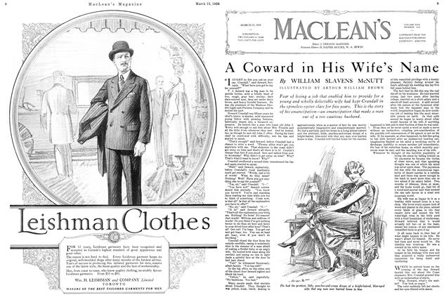 Article Preview: A Coward in His Wife's Name, March 1926 | Maclean's