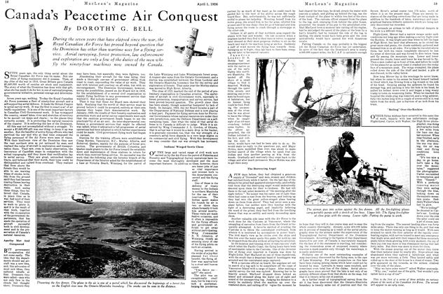 Article Preview: Canada's Peacetime Air Conquest, April 1926 | Maclean's