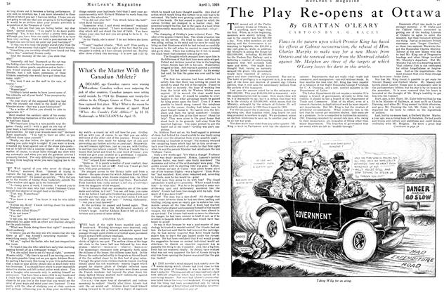 Article Preview: The Play Re-opens at Ottawa, April 1926 | Maclean's