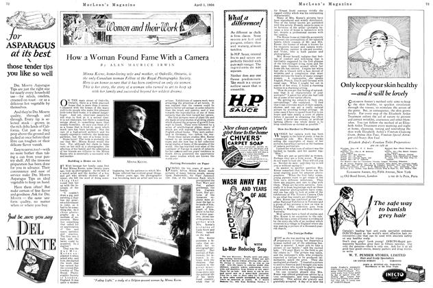 Article Preview: How a Woman Found Fame With a Camera, April 1926 | Maclean's