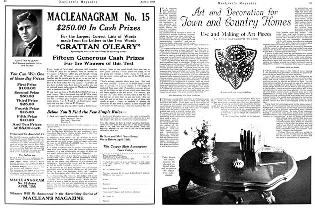 Article Preview: Use and Making of Art Pieces, April 1926 | Maclean's