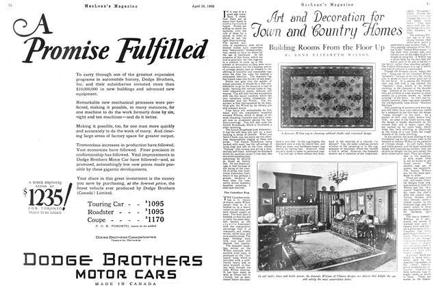 Article Preview: Building Rooms From the Floor Up, April 1926 | Maclean's