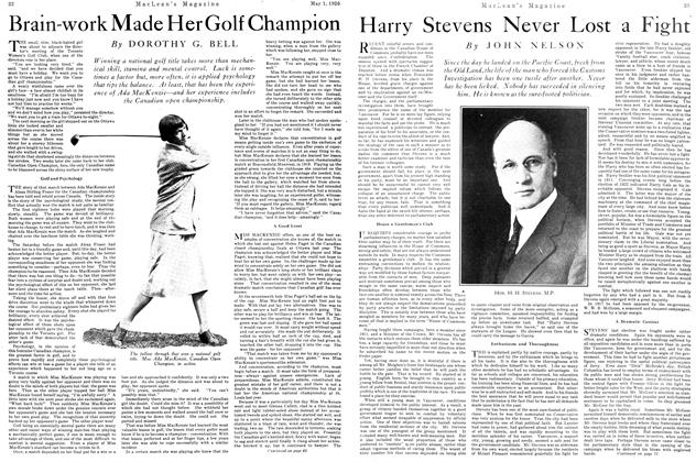 Article Preview: Harry Stevens Never Lost a Fight, May 1926 | Maclean's