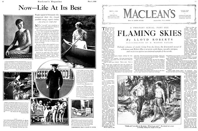 Article Preview: FLAMING SKIES, May 1926 | Maclean's