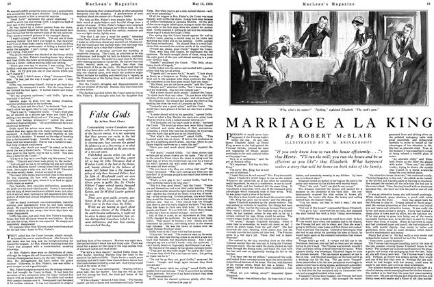 Article Preview: MARRIAGE A LA KING, May 1926 | Maclean's