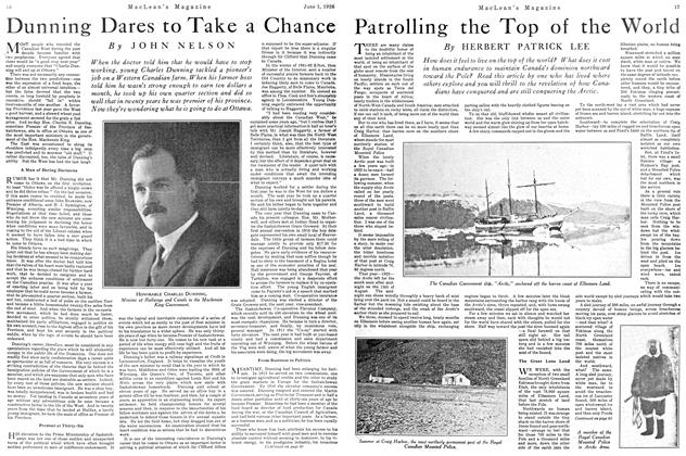 Article Preview: Dunning Dares to Take a Chance, June 1926 | Maclean's