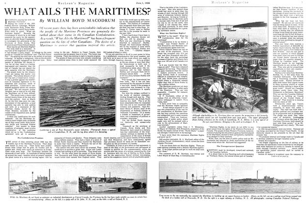 Article Preview: WHAT AILS THE MARITIMES?, June 1926 | Maclean's