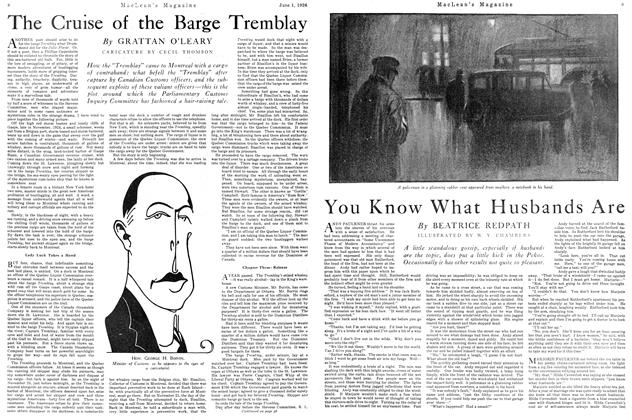 Article Preview: The Cruise of the Barge Tremblay, June 1926 | Maclean's
