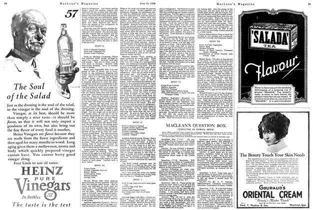 Article Preview: MACLEAN'S QUESTION BOX, June 1926 | Maclean's
