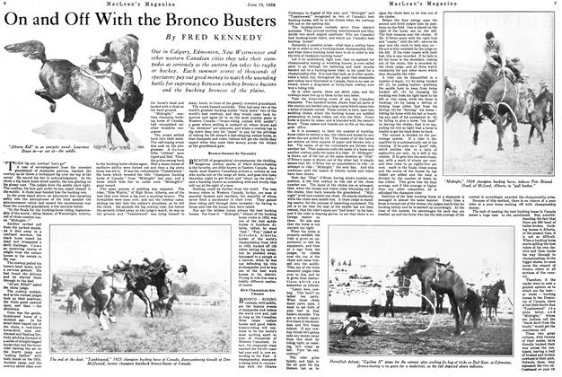 Article Preview: On and Off With the Bronco Busters, June 1926 | Maclean's