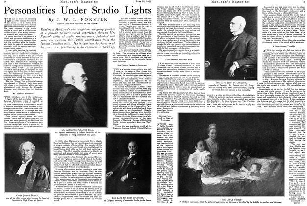 Article Preview: Personalities Under Studio Lights, June 1926 | Maclean's