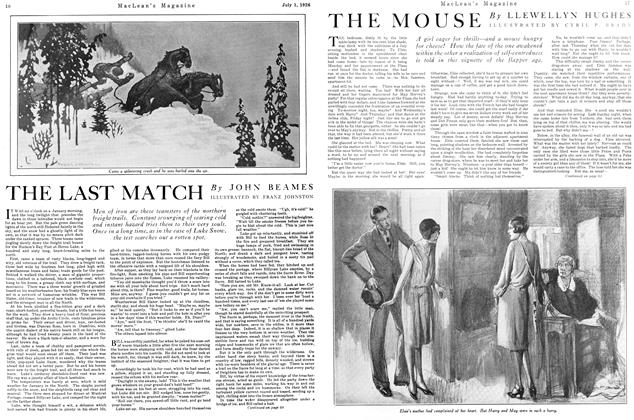 Article Preview: THE LAST MATCH, July 1926 | Maclean's