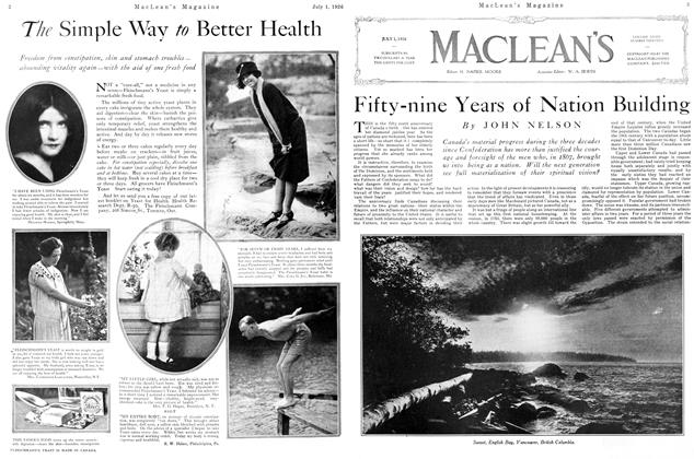 Article Preview: Fifty-nine Years of Nation Building, July 1926 | Maclean's