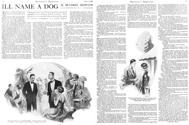 Article Preview: ILL NAME A DOG, July 1926 | Maclean's