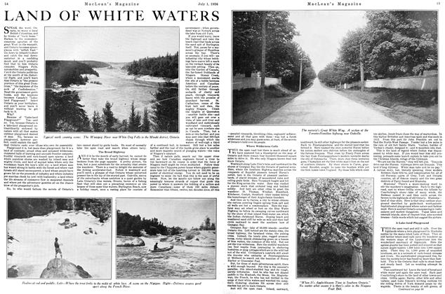 Article Preview: LAND OF WHITE WATERS, July 1926 | Maclean's