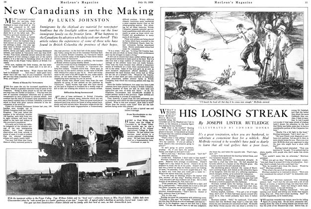 Article Preview: HIS LOSING STREAK, July 1926 | Maclean's