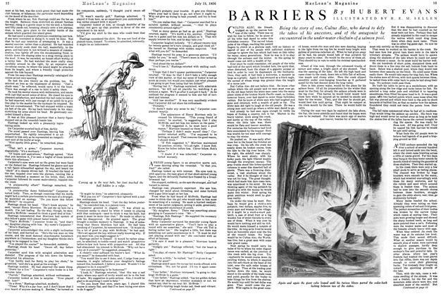 Article Preview: BARRIERS, July 1926 | Maclean's