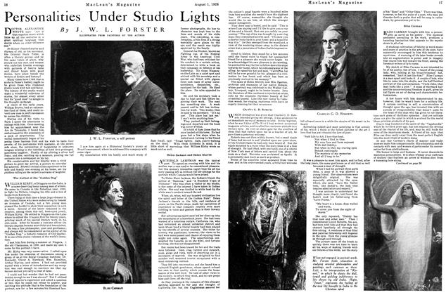 Article Preview: Personalities Under Studio Lights, August 1926 | Maclean's