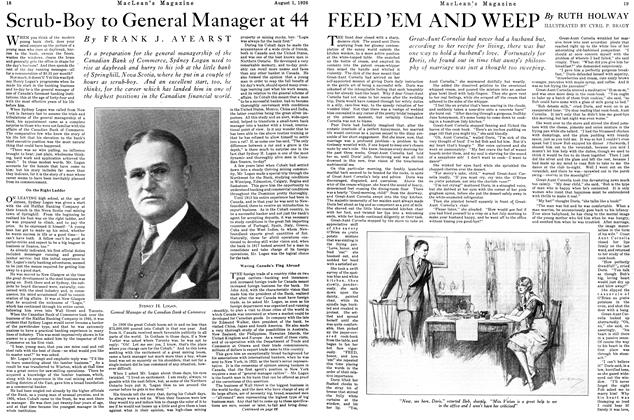 Article Preview: Scrub-Boy to General Manager at 44, August 1926 | Maclean's