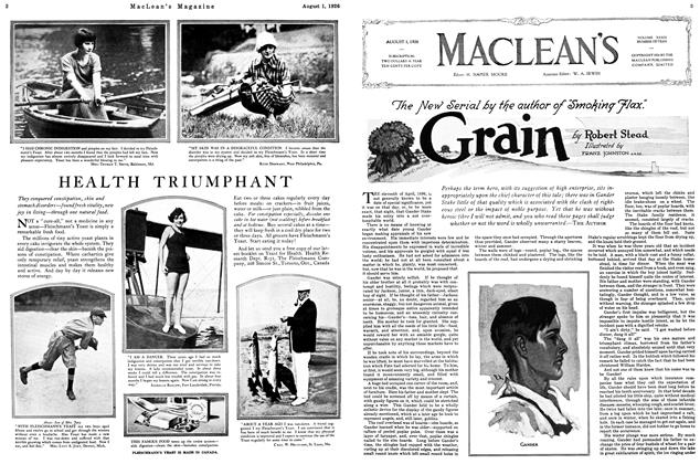 "Article Preview: The New Serial by the author of ""Smoking Flax."", August 1926 
