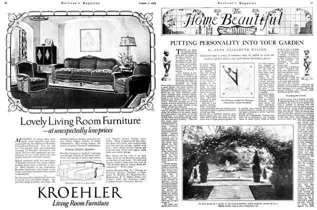 Article Preview: PUTTING PERSONALITY INTO YOUR GARDEN, August 1926 | Maclean's