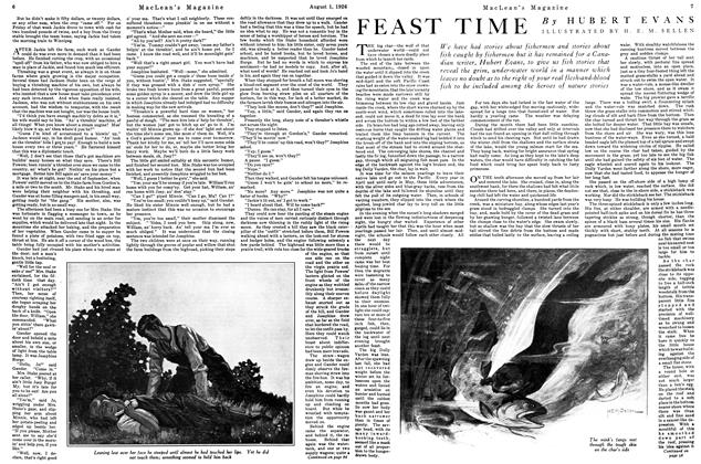 Article Preview: FEAST TIME, August 1926 | Maclean's