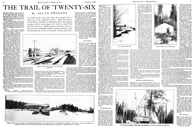 Article Preview: THE TRAIL OF 'TWENTY-SIX, August 1926 | Maclean's